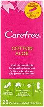 Парфюмерия и Козметика Ежедневни дамски превръзки с екстракт от алое, 20 бр - Carefree Cotton Aloe