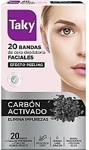 Парфюмерия и Козметика Депилиращ восъчни ленти за лице с активен въглен - Taky Activated Carbon Facial Wax Strips