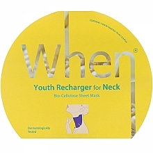 Парфюмерия и Козметика Антистарееща биоцелулозна маска за шия - When Youth Recharger For Neck Bio-Cellulose Mask