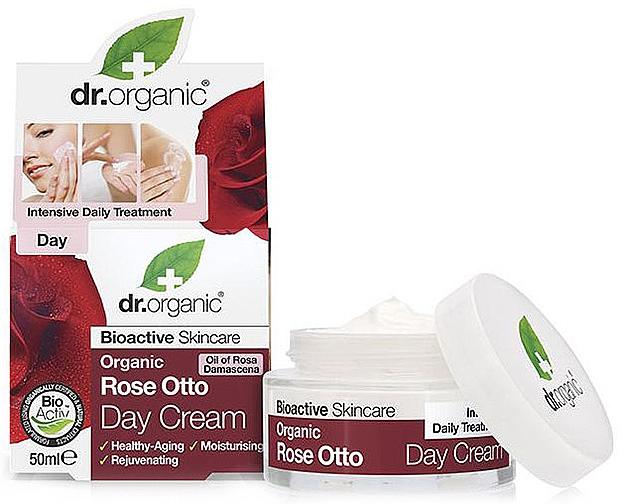 Антистареещ дневен крем за лице с маслодайна роза - Dr. Organic Bioactive Skincare Rose Otto Day Cream