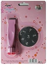 Парфюмерия и Козметика Комплект печат и щампа за нокти RN 00399 - Ronney Professional Nail Stamp
