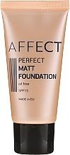 Парфюмерия и Козметика Матиращ фон дьо тен - Affect Cosmetics Perfect Matt Foundation
