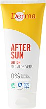 Парфюмерия и Козметика Лосион за след слънчеви бани с екстракт от алое вера - Derma After Sun Lotion Med Aloe Vera