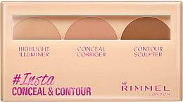 Парфюми, Парфюмерия, козметика Комплект за контуриране на лице - Rimmel Insta Conceal & Contour Palette