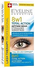Парфюмерия и Козметика Серум за мигли 8 в 1 - Eveline Cosmetics Eyelash Serum Total Action 8in1