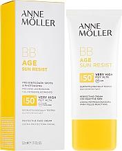 Парфюмерия и Козметика Слънцезащитен BB крем за лице - Anne Moller BB Age Sun Resist Perfecting Cream SPF50+