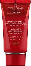 Парфюмерия и Козметика Нощна крем-маска за лице и шия - Collistar Lift HD Night Recovery Mask Cream (тестер)