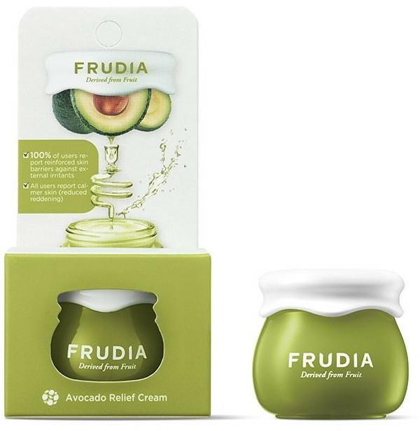Възстановяващ крем за лице с екстракт от авокадо - Frudia Relief Avocado Cream (мини)