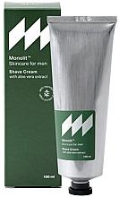 Парфюмерия и Козметика Крем за бръснене с екстракт от алое вера - Monolit Skincare For Men Shave Cream With Aloe Vera Extract
