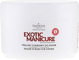 Парфюмерия и Козметика Захарен пилинг за ръце - Farmona Egzotic Manicure Scrub