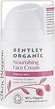 Парфюми, Парфюмерия, козметика Подхранващ крем за нормална кожа - Bentley Organic Skin Blosso Nourishing Face Cream