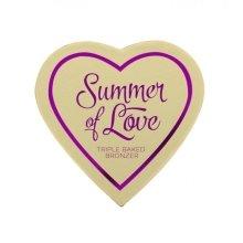 Парфюми, Парфюмерия, козметика Бронзова пудра за лице - Makeup Revolution I Heart Makeup Blushing Hearts Bronzer
