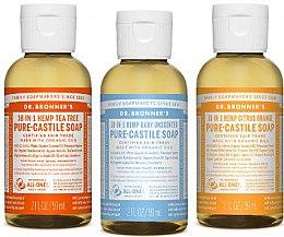 Парфюми, Парфюмерия, козметика Комплект - Dr. Bronner's 18-in-1 Pure Castile Soap (soap/3x60ml)