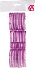 Парфюмерия и Козметика Велкро ролки за коса, 499592, лилави - Inter-Vion