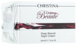 Парфюми, Парфюмерия, козметика Интензивен възстановяващ нощен крем за лице - Christina Chateau de Beaute Deep Beaute Night Cream