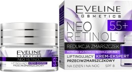 """Парфюми, Парфюмерия, козметика Лифтинг крем-експерт против бръчки """"Подмладяване"""" - Eveline Cosmetics Neo Retinol 55+"""