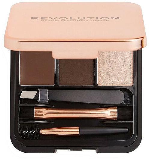 Комплект за вежди - Makeup Revolution Brow Sculpt Kit