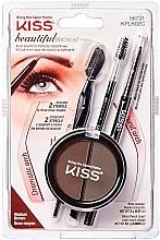 Парфюмерия и Козметика Комплект за моделиране на вежди - Kiss Beautiful Brow Kit