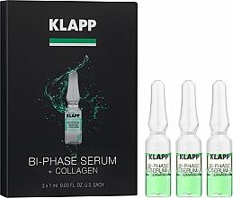 Парфюмерия и Козметика Двуфазен колагенов серум за лице - Klapp Bi-Phase Serum Collagen