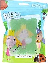 Парфюмерия и Козметика Детска гъба за баня, Princess Holly, светлозелена - Suavipiel Ben & Holly's Bath Sponge