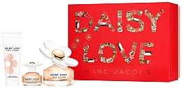 Парфюмерия и Козметика Marc Jacobs Daisy Love - Комплект (тоал. вода/100ml + тоал. вода/4ml + лосион за тяло/75ml)