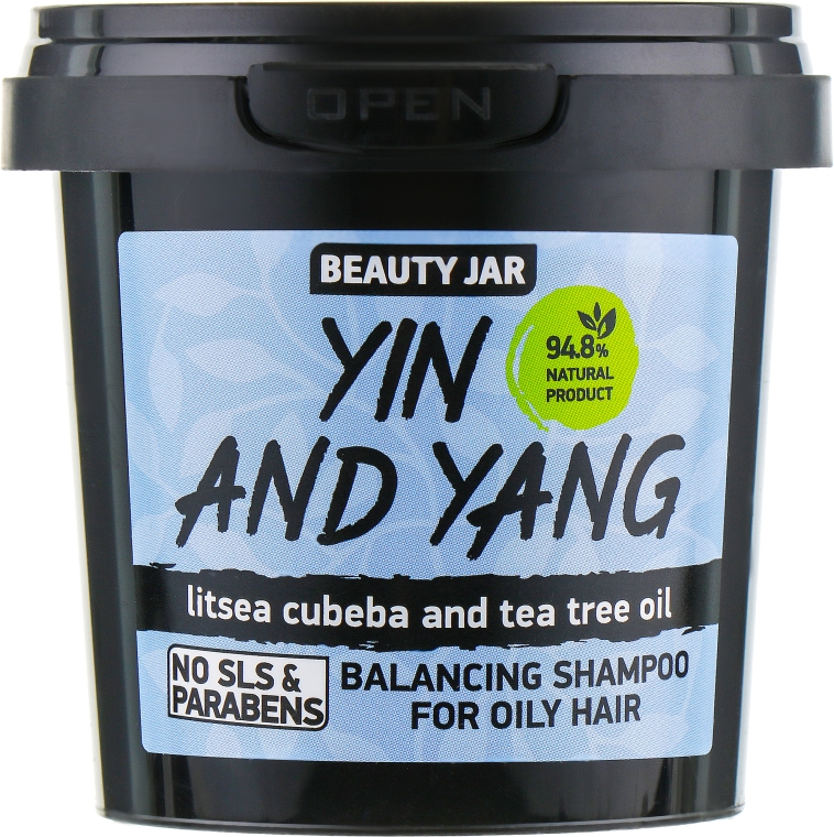 "Шампоан за мазна коса ""Yin and Yang"" - Beauty Jar Shampoo For Oily Hair"