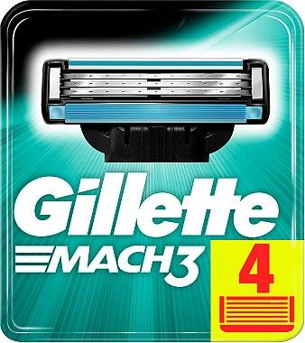 Сменяеми ножчета за бръснене, 4 бр. - Gillette Mach3 — снимка N3