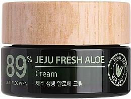 Парфюмерия и Козметика Хидратиращ и освежаващ крем със сок от алое вера 89% - The Saem Jeju Fresh Aloe Cream