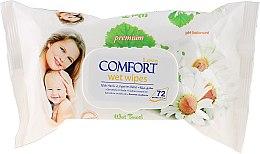 Парфюми, Парфюмерия, козметика Детски мокри кърпички - Aksan Baby Wet Wipes Pure Chamomile