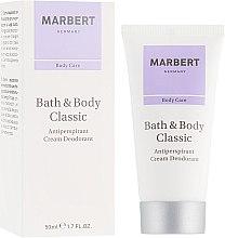 Парфюмерия и Козметика Крем-дезодорант антиперспирант - Marbert Bath & Body Classic Anti-Perspirant Cream Deodorant