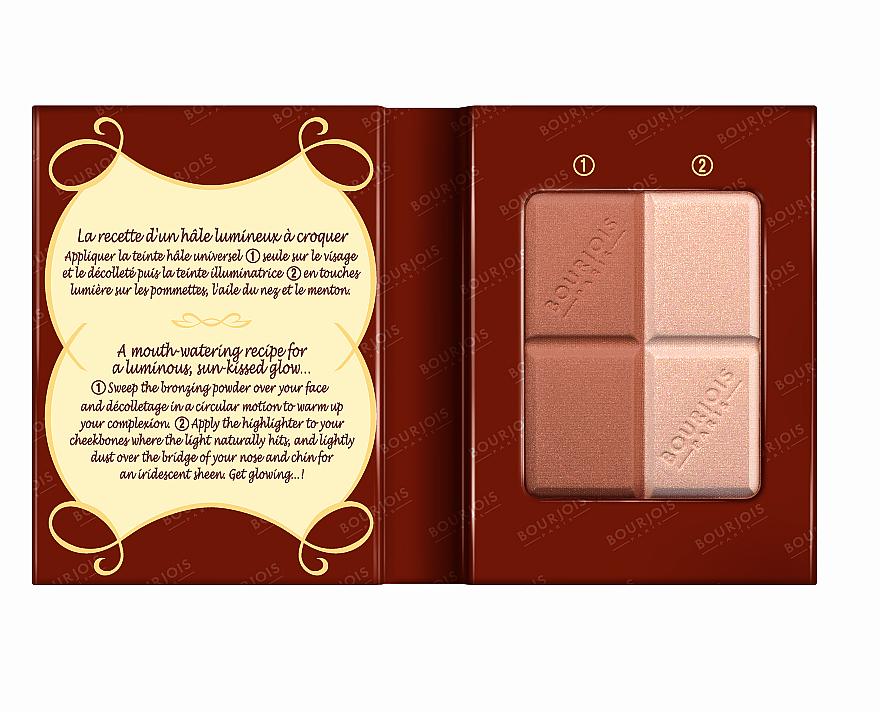 Компактна пудра за лице - Bourjois Delice De Poudre Bronzing Duo Powder + Highlighter — снимка N3