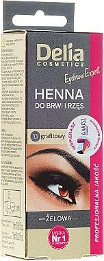 Крем- боя за вежди и мигли, графит - Delia Brow Dye Graphite 1.1