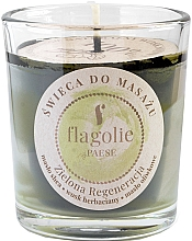 """Парфюмерия и Козметика Масажна свещ в чаша """"Зелена възстановяваща"""" - Flagolie Green Regeneration Massage Candle (мини)"""