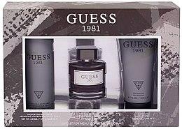 Парфюмерия и Козметика Guess 1981 For Men - Комплект (тоал. вода/100ml + душ гел/200ml + део/22m6l)