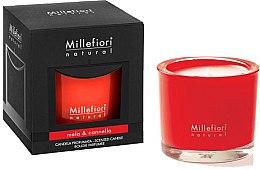 """Парфюми, Парфюмерия, козметика Ароматна свещ """"Ябълка и канела"""" - Millefiori Milano Natural Candle Mela & Canela"""