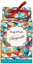 "Парфюми, Парфюмерия, козметика Ароматна свещ ""Орлови нокти"" - Song of India Honeysuckle Candle"