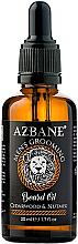 Парфюмерия и Козметика Масло за брада с кедър и индийско орехче - Azbane Bean Oil With Cedarwood And Nutmeg Oil