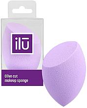 Парфюмерия и Козметика Гъба за грим, скосена, лилава - Ilu Sponge Olive Cut Purple