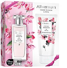 Парфюми, Парфюмерия, козметика Allverne Cherry Blossom & Musk - Комплект (парф. вода/50ml + лосион за тяло/200ml)