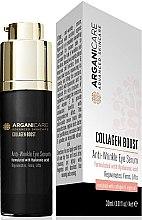 Парфюмерия и Козметика Околоочен серум против стареене - Arganicare Collagen Boost Anti Wrinkle Eye Serum