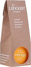 Парфюмерия и Козметика Крем-дезодорант с мандарина и лимон - The Lekker Company Natural Deodorant Mandarin & Lemon