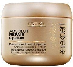 Маска за възстановяване на увредена коса - L'Oreal Professionnel Absolut Repair Lipidium Instant Reconstructing Masque — снимка N2