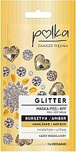 Парфюмерия и Козметика Ексфолираща маска за лице с кехлибар - Polka Glitter Peel Off Mask Amber