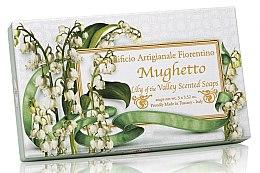 Парфюми, Парфюмерия, козметика Комплект натурални сапуни с аромат на момина сълза - Saponificio Artigianale Fiorentino Lily Of The Valley Scented Soap (soap/3pcsx100g)