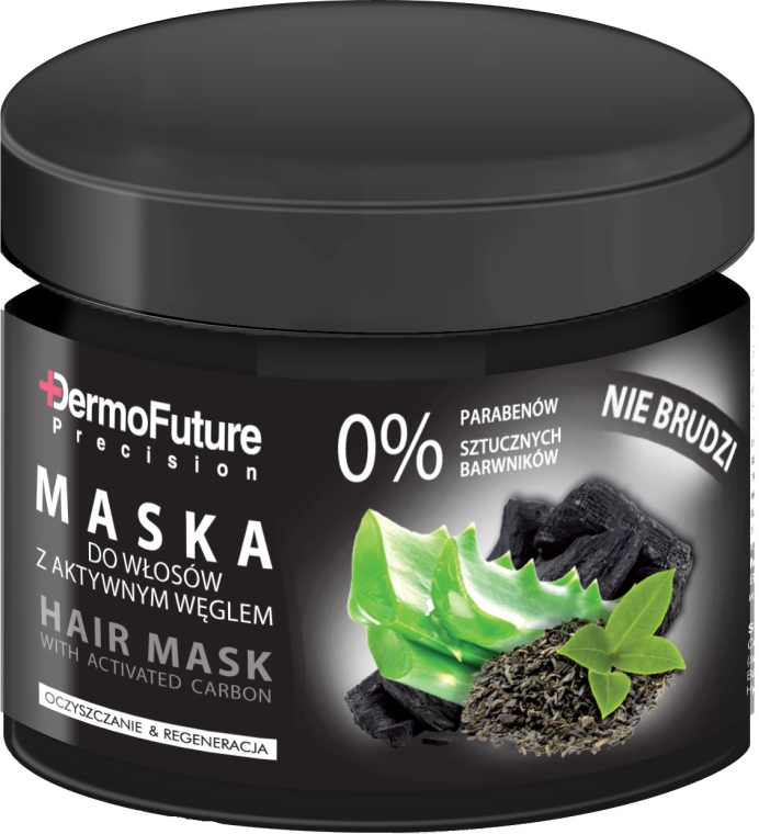 Маска за коса с активен въглен - DermoFuture Hair Mask With Activated Carbon