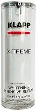 Парфюмерия и Козметика Изсветляващ серум за лице - Klapp X-treme Whitening Intensive Serum