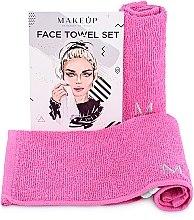 """Парфюмерия и Козметика Комплект кърпи за лице в розов цвят """"MakeTravel"""" - Makeup Face Towel Set"""