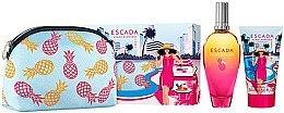Парфюми, Парфюмерия, козметика Escada Miami Blossom - Комплект (тоал. вода/100m l+ лосион за тяло/150ml + козм.чанта)