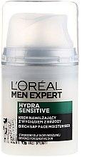 Парфюми, Парфюмерия, козметика Овлажняващ крем с екстрак от бреза за чувствителна кожа - L'Oreal Paris Men Expert Hydra Sensitive 25+
