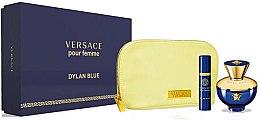 Парфюми, Парфюмерия, козметика Versace Pour Femme Dylan Blue - Комплект (edp/100ml + edp/10ml + pouch)
